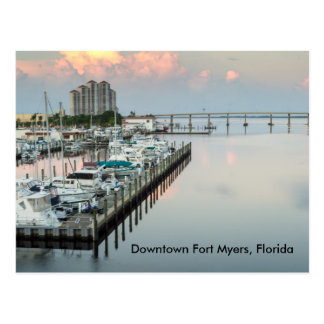 Downtown Fort Myers Florida Postcard