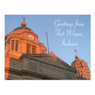 Downtown Fort Wayne Postcard