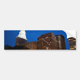 Downtown Hartford Connecticut at Night Car Bumper Sticker