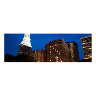 Downtown Hartford Connecticut at Night Double-Sided Mini Business Cards (Pack Of 20)