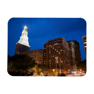 Downtown Hartford Connecticut at Night Magnet