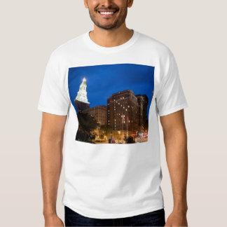 Downtown Hartford Connecticut at Night Shirt