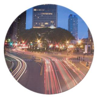 Downtown Hartford CT Melamine Plate
