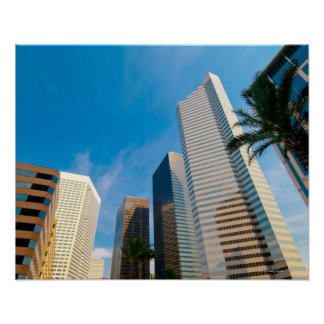 downtown high rise buildings in Houston, Texas, Poster