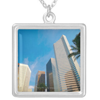 downtown high rise buildings in Houston, Texas, Square Pendant Necklace