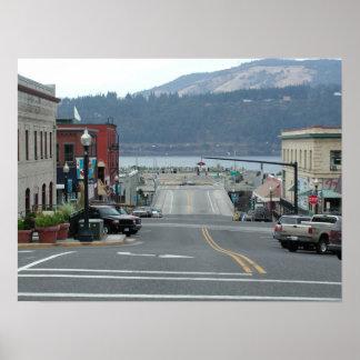 Downtown Hood River Oregon Poster