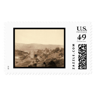 Downtown Hot Springs South Dakota 1891 Postage Stamp