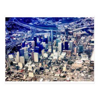 Downtown Houston Panoramic Postcard