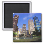 Downtown Houston, Texas 2 Inch Square Magnet