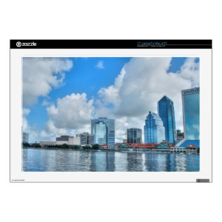 """Downtown Jacksonville business district Decal For 17"""" Laptop"""