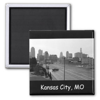 Downtown Kansas City 2 Inch Square Magnet