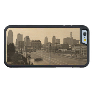 Downtown Kansas City Carved® Maple iPhone 6 Bumper Case