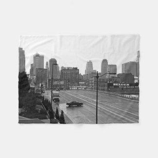 Downtown Kansas City Fleece Blanket