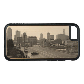 Downtown Kansas City on Natural Wood Carved iPhone 7 Case