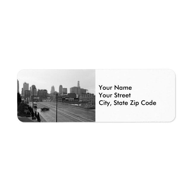 Downtown Kansas City return address labels