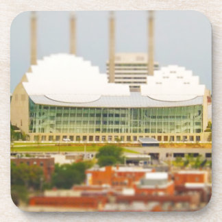 Downtown Kansas City Tilt-Shift Miniature Photo Beverage Coaster