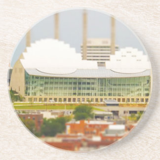 Downtown Kansas City Tilt-Shift Miniature Photo Drink Coaster