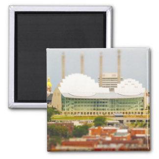 Downtown Kansas City Tilt-Shift Miniature Photo Refrigerator Magnet