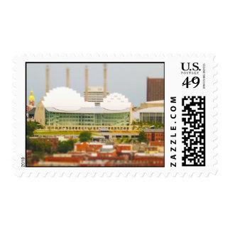 Downtown Kansas City Tilt-Shift Miniature Photo Postage Stamps