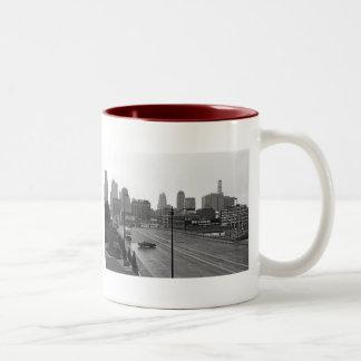 Downtown Kansas City Two-Tone Coffee Mug