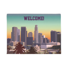 Downtown L.A. - Customizable Illustration Doormat