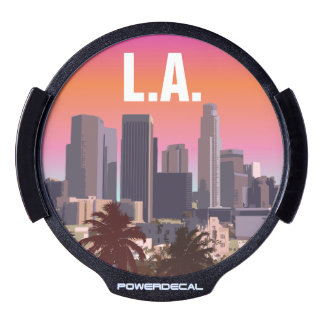 Downtown L.A. - Customizable Illustration LED Window Decal