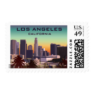 Downtown L.A. Postage Stamp