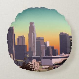 Downtown L.A. Round Pillow
