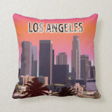 Downtown L.A. Throw Pillow