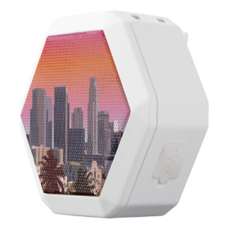 Downtown L.A. White Bluetooth Speaker