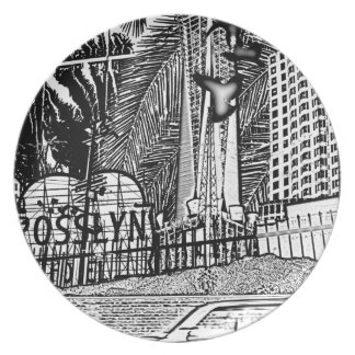 Downtown LA Dinner Plate