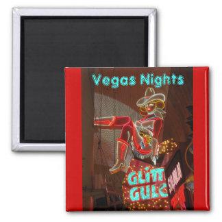 Downtown Las Vegas 2 Inch Square Magnet