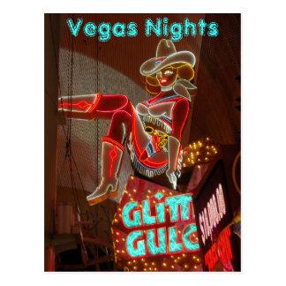 Downtown Las Vegas Nights Post Cards