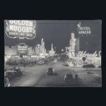 """Downtown Las Vegas Retro Cloth Placemat<br><div class=""""desc"""">vintage Vegas Downtown</div>"""