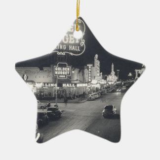 Downtown Las Vegas Retro Christmas Ornament