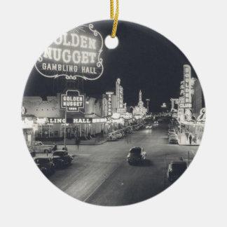 Downtown Las Vegas Retro Christmas Tree Ornaments
