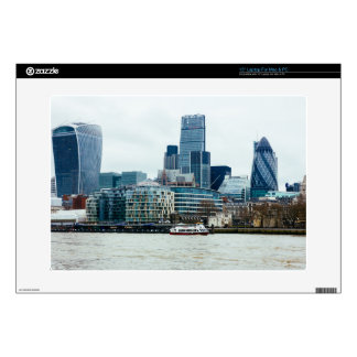 Downtown London, Blue Modern Architecture Decals For Laptops