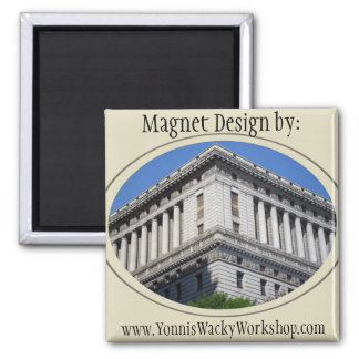 Downtown Los Angeles 2 Inch Square Magnet