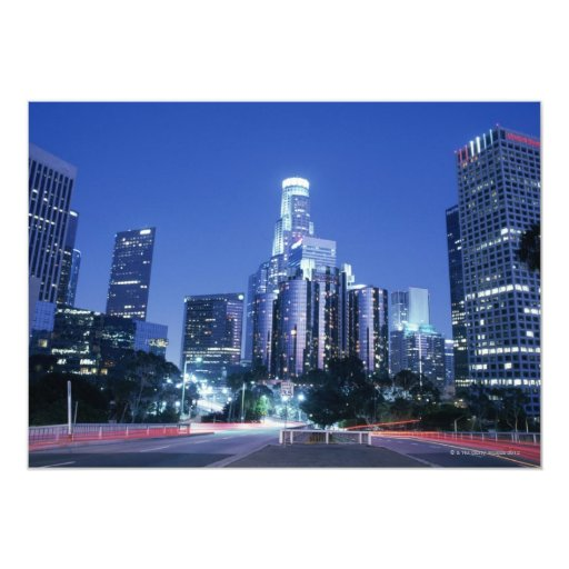 Downtown Los Angeles 5x7 Paper Invitation Card