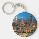 Downtown Los Angeles at Dusk Keychains