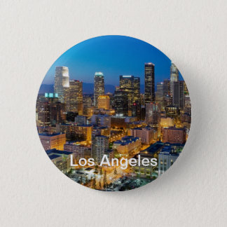 Downtown Los Angeles at Dusk Pinback Button