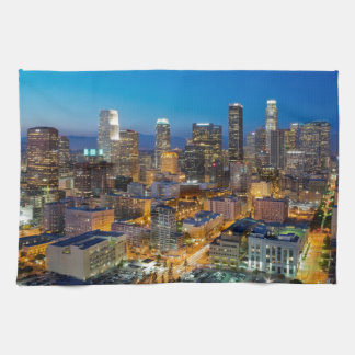 Downtown Los Angeles at Dusk Towel