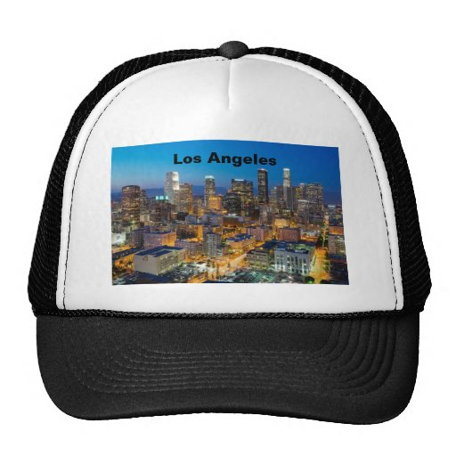 Downtown Los Angeles at Dusk Trucker Hat