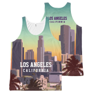 Downtown Los Angeles, California All-Over Print Tank Top
