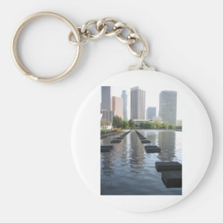 Downtown Los Angeles California By Bernadette Seba Keychain