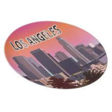 Downtown Los Angeles, California Melamine Plate