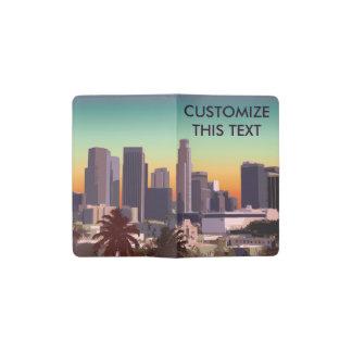 Downtown Los Angeles - Custom Illustration Pocket Moleskine Notebook