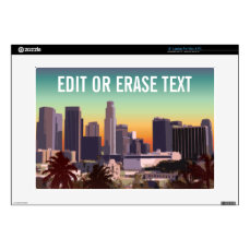 """Downtown Los Angeles - Customizable Image 15"""" Laptop Decal"""