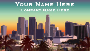 Angeles city business cards templates zazzle downtown los angeles customizable image business card reheart Image collections