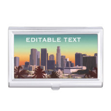 Downtown Los Angeles - Customizable Image Business Card Holder